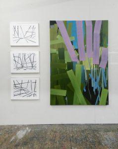 Holger Fitterer 2018, Malerei auf Leinwand und Zeichnung