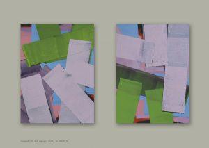 Holger Fitterer, Papierarbeiten, Ohne Titel, 2018, je 38x28cm