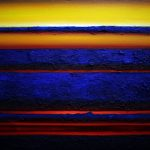5. Karolina Jarmolinska, Sonnenuntergang, 70x100cm, 2018, Öl, Sand, Leinwand