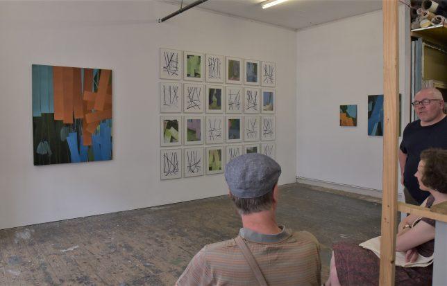 Der Künstler Holger Fitterer im Studio